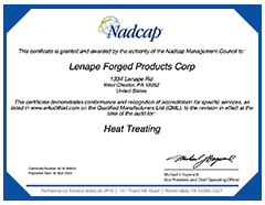 NADCAP Certificate - Click for larger PDF version